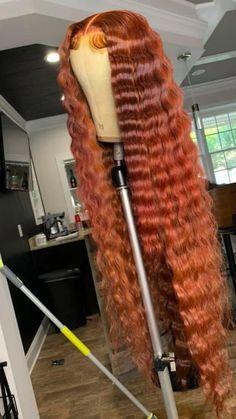 Hair Ponytail Styles, Curly Hair Styles, Natural Hair Styles, Dope Hairstyles, Black Women Hairstyles, Dyed Natural Hair, Dyed Hair, Cute Hair Colors, Lace Hair