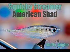 Fat Head Squishy Streamer - American Shad - Fly Tying Video - YouTube