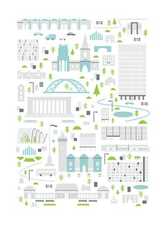 Points of interest in the city of Sheffield, UK. sized & professionally printed on uncoated stock. Edition of signed and numbered. Sheffield Map, Cv Inspiration, Page Layout Design, Fun Illustration, Modern Crafts, City Maps, Background Patterns, Travel Posters, Cartography
