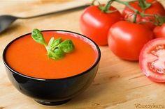 Сыроедческий томатный гаспачо / Вегетарианские и сыроедческие рецепты / Овощные рецепты