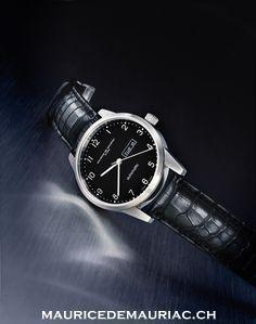 Automatic modern Swiss made watch. http://mauricedemauriac.ch/ #watchesformen