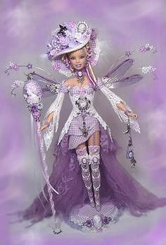 Barbie Victorian Fairy Queen Cameo Doll Lilac Custom OOAK * ....24..3 qw