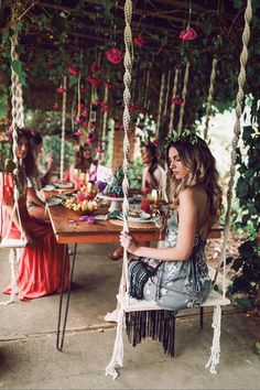 Macrame Swing Modern Macrame Wood Swing Outdoor Swing Boho Best Picture For underground pool ideas For Your Taste You are looking for something, and it is going to tell you exactly what you are lookin Outdoor Spaces, Outdoor Living, Wood Swing, Diy Swing, Hammock Swing, Hammocks, Backyard Patio, Outdoor Swings, Outdoor Tub