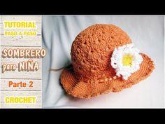 En este video tutorial aprenderemos a realizar un precioso sombrero para niña a crochet en varios talles. Muy sencillo, paso a paso. Utilizamos 80 gr. de hil...