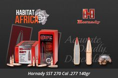 "Short for ""Super Shock Tip"" the Hornady SST 270 Cal .277 140gr is designed to deliver tremendous shock on impact while expanding quickly and reliably, particularly at higher velocities. Flat shooting and deadly accurate, it's an ideal bullet for whitetails, as well as most North American game animals from antelope [...]"