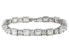 Charles Winston For Bella Luce (R) 49.28ctw Rhodium Plated Sterling Silver Bracelet