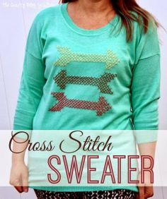 SWEET HAUTE Share Link Up Party  Arrow Cross Stitch Sweater: The Crafty Blog Stalker