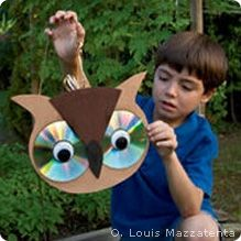 Make an Owl from Recycled CDs - National Wildlife Federation how-to