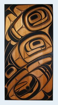 Phil Gray, Red Cedar Raven Panel, Northwest Coast Native Art