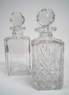 Antique Two Whisky Decanters