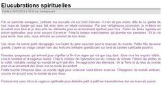 Elucubrations spirituelles