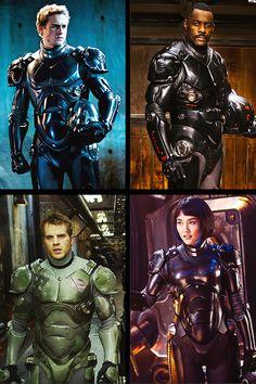 Pacific Rim - Jaeger' s pilot : Raleigh Becket, Stacker Pentecost, Chuck Hansen, Mako Mori