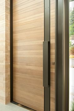 Architecture, Contemporary Washington Park Hilltop Residence with Wood Accent: Black Box Door