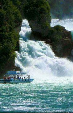 Rhine Falls - Switzerland; largest waterfall in Europe Ferienwohnung oder…
