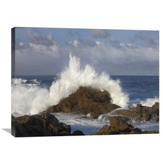 Crashing Waves At Garrapata State Beach, Big Sur, California By Tim Fitzharris, 24 X 32-Inch Wall Art