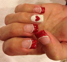 202 Best Valentine S Day Nails Images On Pinterest Pretty Nails