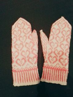 Ystävänpäivä, Valentine mittens for a friend Mittens, Gloves, Winter, Handmade, Fingerless Mitts, Winter Season, Hand Made, Fingerless Mittens, Arm Work