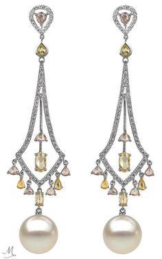 Autore Pearl and Diamond Earrings