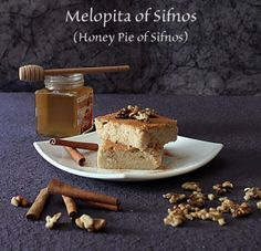 Melopita from Sifnos ( honey pie) | Sweets - Cakes, Coffee Cakes ...