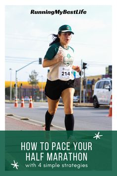 Pace your half marathon with a smart strategy to help ensure you have a successful race. The longer your race distance is, the more important pacing becomes. By planning out your entire distance, you ensure that you don't burn all of your energy in the first few miles when the adrenaline sends you soaring across the starting line. #halfmarathon #racedaytips #halfmarathonpacing
