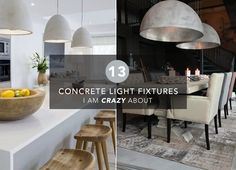 concrete lighting, concrete light, light fixtures, modern lighting, pendant lights, pendant light, home decor