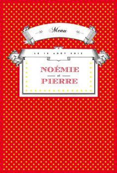 Menu de mariage (wedding menu) : Festival - by Marion Bizet pour http://www.rosemood.fr #mariage #wedding #menu