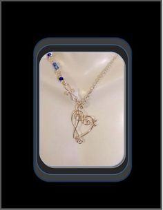 """""""One of a kind """"Music Pendant with Custom Gem chain 