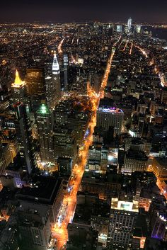 Manhattan Night Lights, NYC