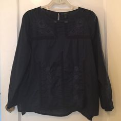 J. Crew embroidered top! Beautiful long sleeve J. Crew embroidered top! J. Crew Tops Tees - Long Sleeve