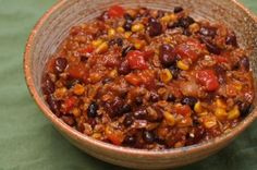 Soy Chorizo Vegetarian Chili | All recipes with Trader Joes products for easy, quick, healthy meal ideas