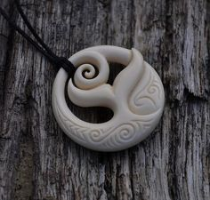 Bone Whale tail Ocean design Handcraved and by JackieTump on Etsy, $95.00