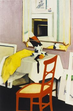 Interior with Red Chair by F C B Cadell (Scottish, 1883-1937)