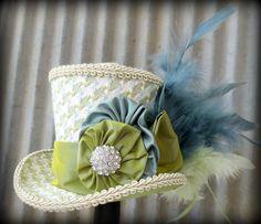 bridal shower alice in wonderland | alice in wonderland mini top hat tea party hat mad hatter hat bridal ...