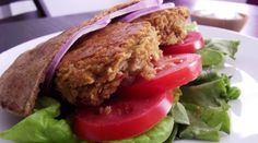 Spicy Baked Falafel Sandwiches with Homemade Tzatziki