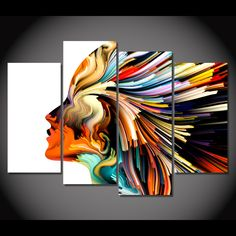 Style Your Home Today With This Amazing 4 Panel Abstract Woman Figure Framed Wall Canvas Art For $99.00 Discover more canvas selection here http://www.octotreasures.com If you want to create a customized canvas by printing your own pictures or photos, please contact us.