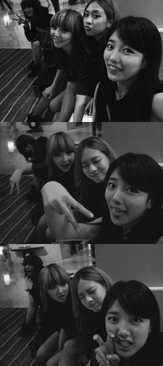 Suzy updates fans with group photos of miss A Miss A Kpop, K Board, Miss A Suzy, Victoria Song, Kpop Girl Bands, Kim Tae Hee, Brown Eyed Girls, Korean Entertainment, Bae Suzy