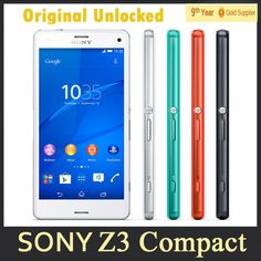 Z3 Mini Original Sony Xperia Z3 compact Cell SmartPhone Quad core 4.6'' inch 20.7MP Camera 2GB RAM 16GB ROM GPS 4G Android phone US $180.98-187.98 /piece To Buy Or See Another Product Click On This Link  http://goo.gl/EuGwiH