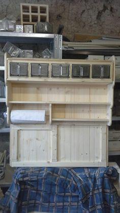 Küchenregal, Gewürzregal, Wandregal, aus der Holzwerkstatt von Ansolece