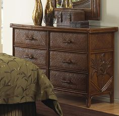 Six Drawer Dresser in TC Antique Finish