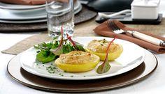 Patatas rellenas de foie gras y gratinadas