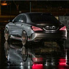 Mercedes Benz CLA 45 AMG grey wet