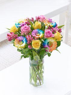 Seasonal flowers spring spring mood springtimeflower inspiration rainbow dazzler hand tied interflora mightylinksfo