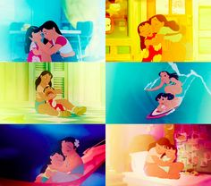 For people who say Frozen is the first Disney movie to show sisterly love... you must have forgotten about Lilo and Nani.