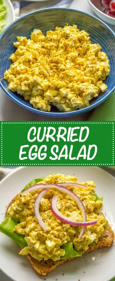 Curry egg salad is a simple, creamy and delicious lunch that is perfect for sandwiches, wraps or salad wraps, or for crackers and vegetables. There are only 5 ingredients and are ready in about 30 minutes. Curried Egg Salad Recipe, Curry Egg Salad, Curried Egg Sandwich, Salad Sandwich, Egg Recipes, Lunch Recipes, Salad Recipes, Cooking Recipes, Chicken Recipes