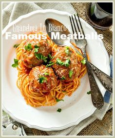 GRANDMA LO BIANCO'S FAMOUS MEATBALLS- these are the best meatballs you will ever make. And so easy! Not bragging, just the truth!