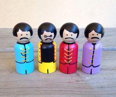 The Beatles peg dolls