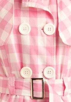 Now if this were a yellow gingham raincoat, I'd be all over it!  The pink gingham is irresistible, too!