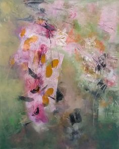 Dancing on Sunshine, Aleta Pippin, 20x16 oil/canvas, $1750. #abstractart #aletapippinart #holidaygiftguide #artgifts