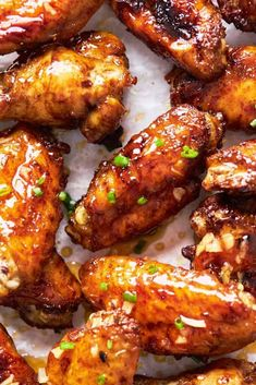 These Honey Garlic Jerk Chicken Wings are air fried to golden-brown goodness, then brushed in a homemade sticky honey garlic glaze! Perfect Appetizer! #wings #chicken #chickenwings #airfryer #airfried #honey #garlic #jerkchicken #jerkwings Chicken Wing Marinade, Best Chicken Wing Recipe, Air Fry Chicken Wings, Chicken Wing Sauces, Crispy Chicken Wings, Sauce For Chicken, Chicken Wing Recipes, Siracha Chicken Recipes, Garlic Fried Chicken
