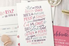 Loving this whimsical wedding invitation from Minted! A fun invite roundup + a $3500 giveaway today on GWS!!
